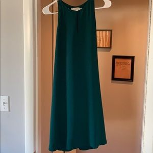 Emerald green shift dress